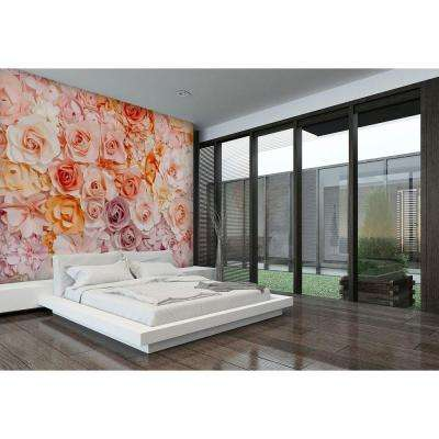 144 in. H x 100 in. W Posy Wall Mural