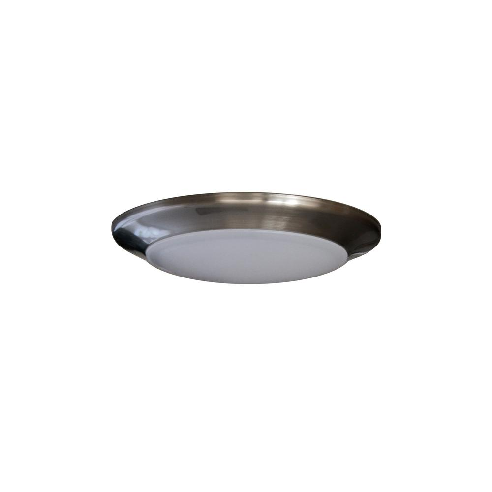 Round Disk Light 4 In Nickel Recessed Integrated LED Trim Kit Round Fixture 3000k Warm White New Construction