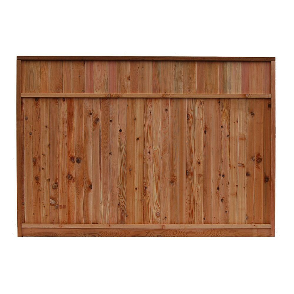 Signature Development 6 ft. H x 8 ft. W Western Red Cedar Solid Lattice Top Fence Panel