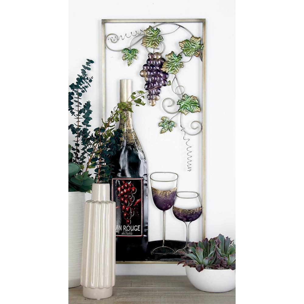 Wine iron work wall decor