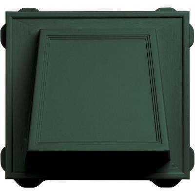 6 in. Hooded Siding Vent #028-Forest Green