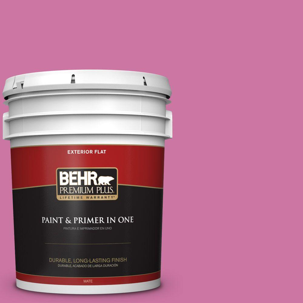 BEHR Premium Plus 5-gal. #P120-4 Heart Breaker Flat Exterior Paint ...