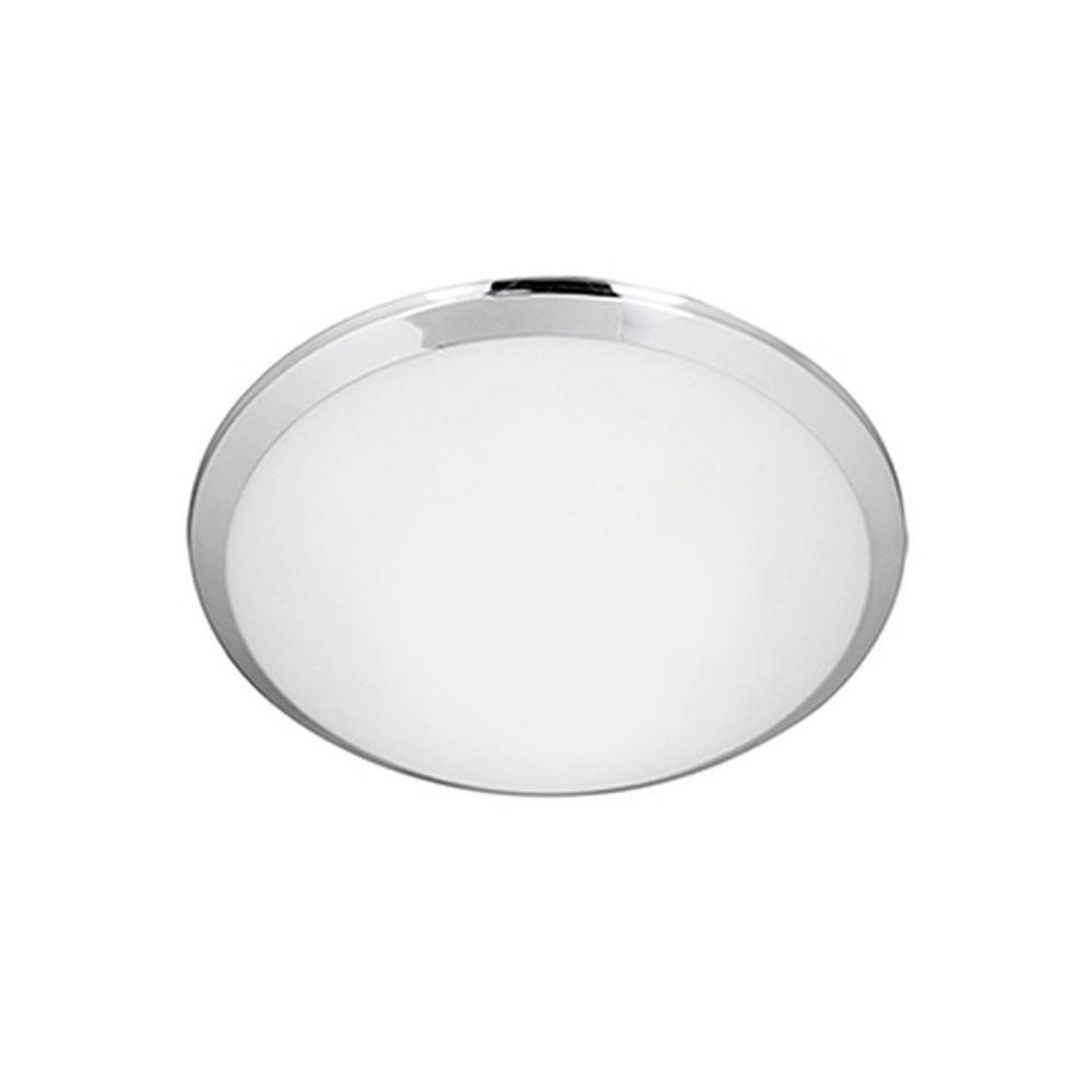 Radionic Hi Tech Berkley Chrome 40-Watt Equivalence Integrated LED Ceiling Flush Mount