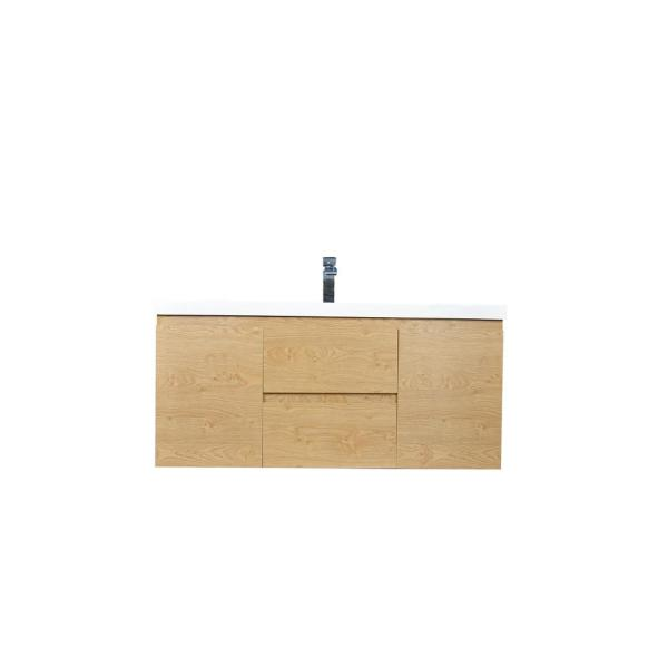 Bohemia 48 in. W Bath Vanity in New England Oak with Reinforced Acrylic Vanity Top in White with White Basin