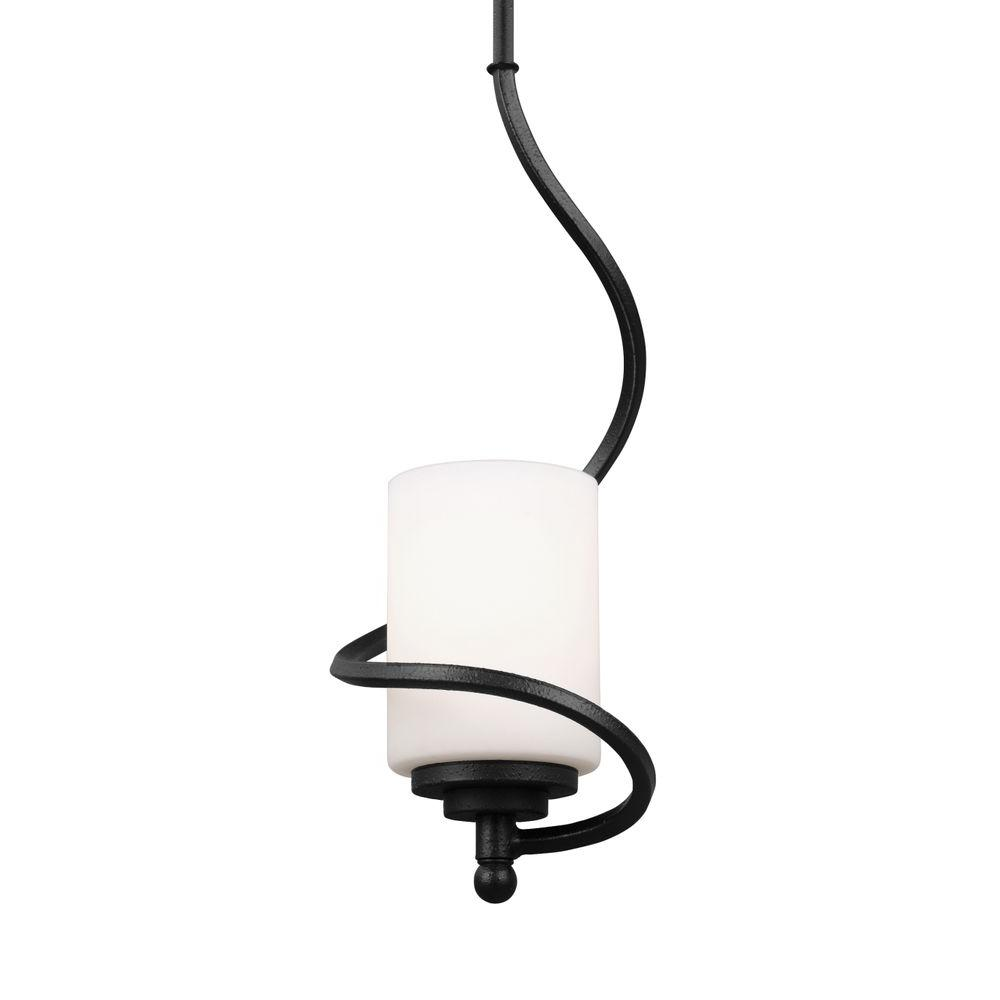 seagull pendant lighting. Sea Gull Lighting Goliad 1-Light Blacksmith Mini Pendant-6125201-839 - The Home Depot Seagull Pendant E