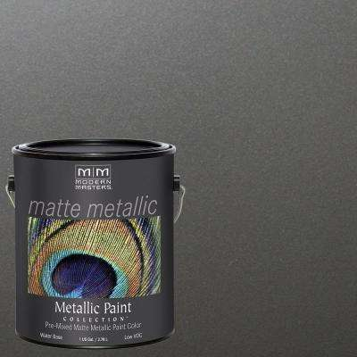 1 gal. Pewter Water-Based Matte Metallic Interior Paint