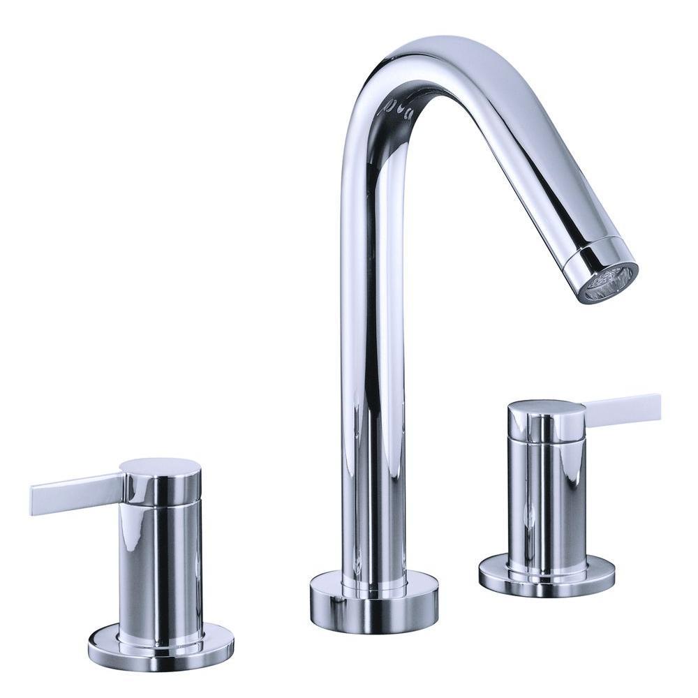 KOHLER Stillness 2-Handle Deck-Mount Bathroom Faucet Trim Only in ...