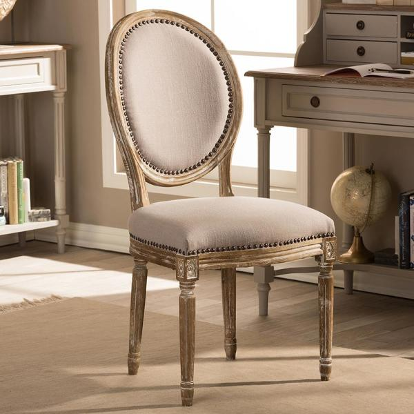 Baxton Studio Clairette II Beige Fabric Upholstered Dining Chair 28862-6013-HD