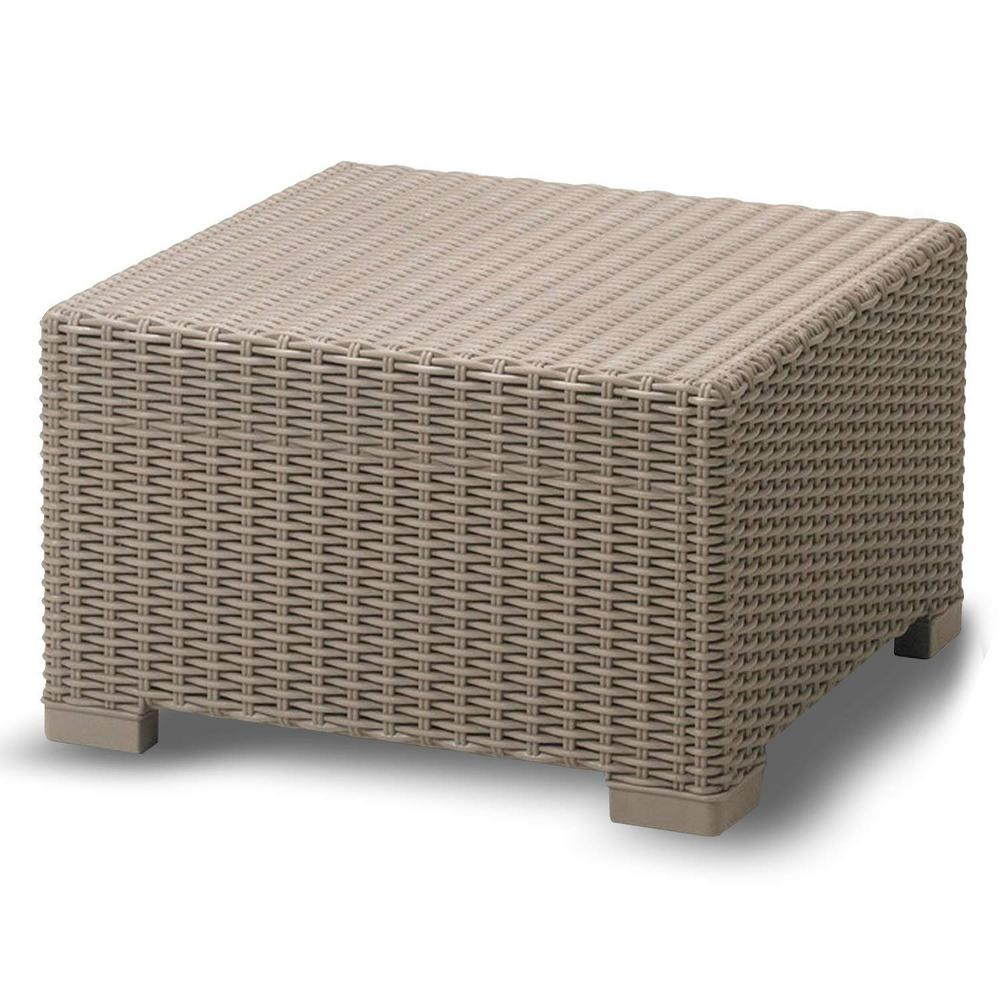 Yukon Glory Premium Outdoor Ottoman Weather Resistant Coffee Table Design Easy Embly