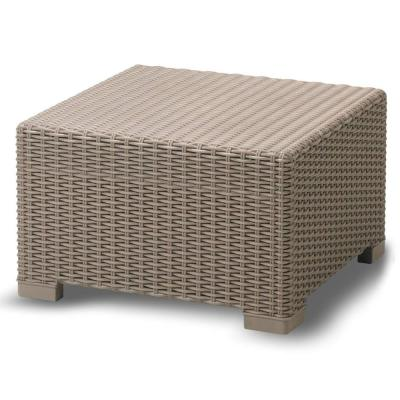 Premium Wicker Outdoor Ottoman Weather Resistant Coffee Table Design Easy Assembly
