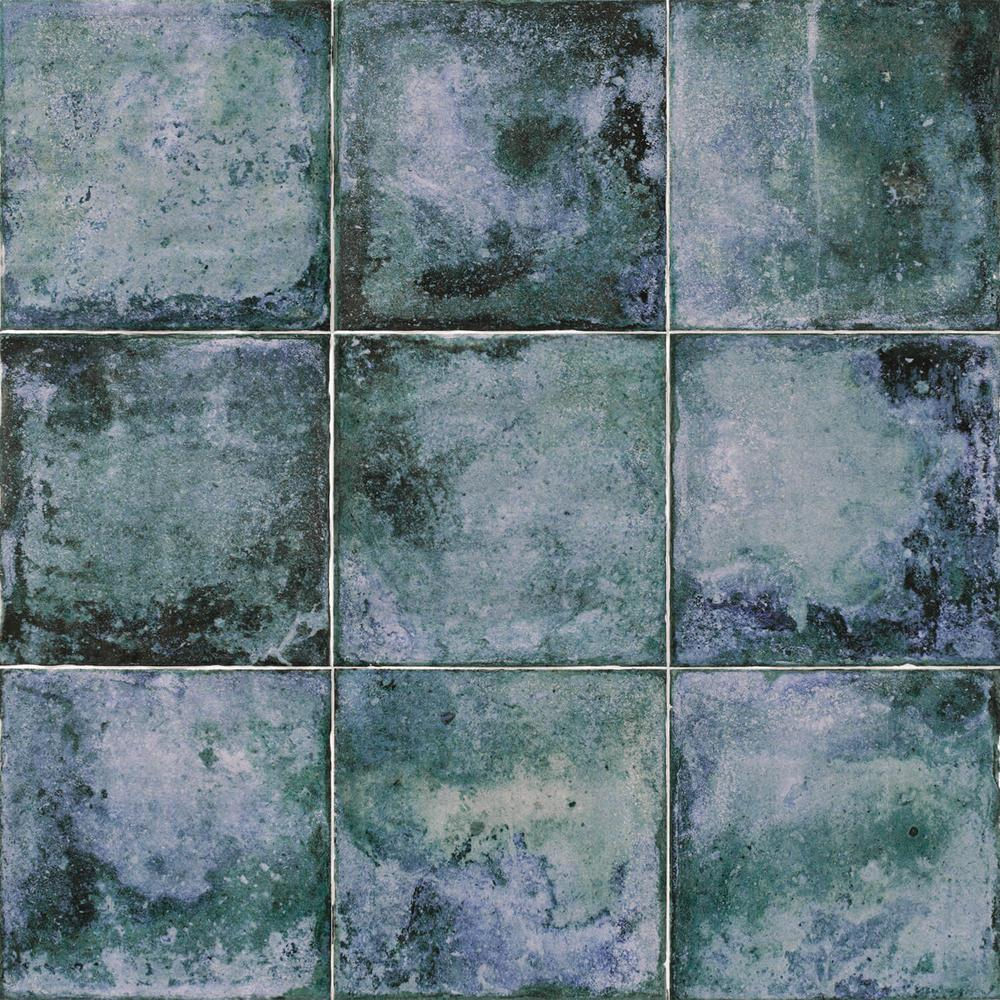 Ivy Hill Tile Angela Harris Blue 8 in. x 8 in. x 9mm Polished Ceramic Wall Tile (25 pieces / 10.76 sq. ft. / box)