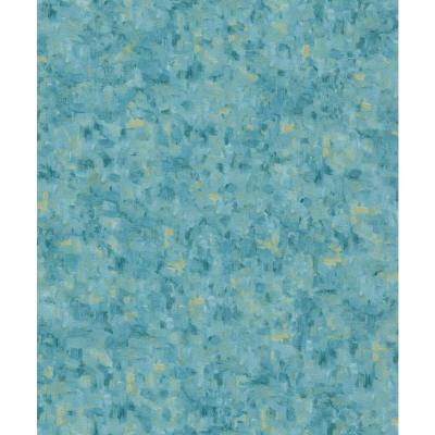 Blue & Yellow Muti Colored Textured Wallpaper