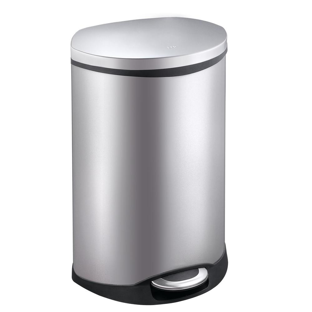 Shell Stainless Steel 50 Liter/13.2 Gallon Step Trash Can