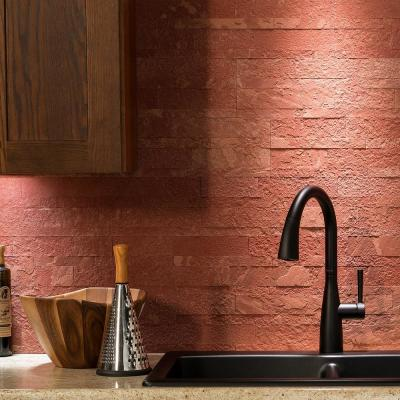 Red Peel And Stick Backsplash Wall Decor The Home Depot