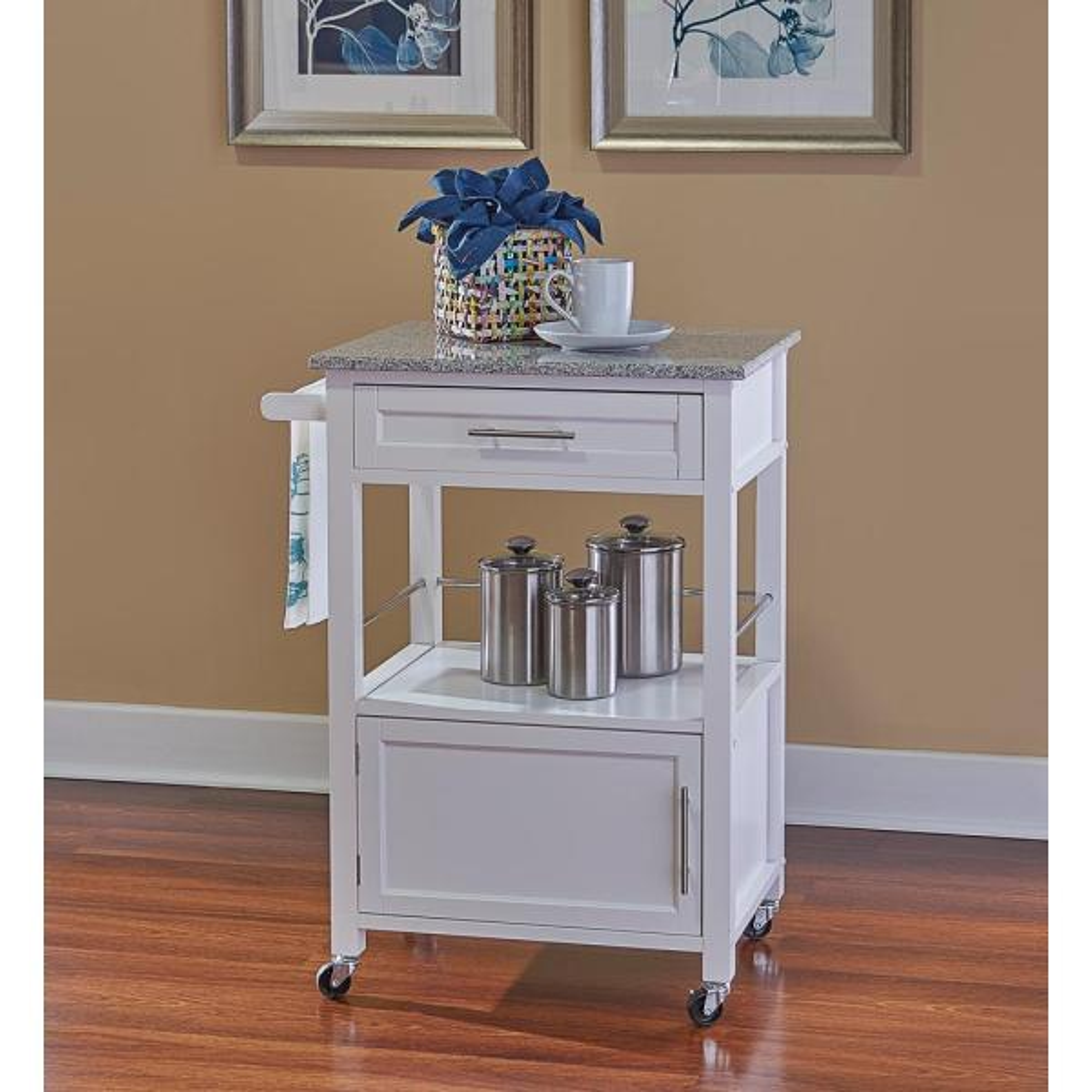 Linon Home Decor: Linon Home Decor Mitchell White Kitchen Cart With Storage