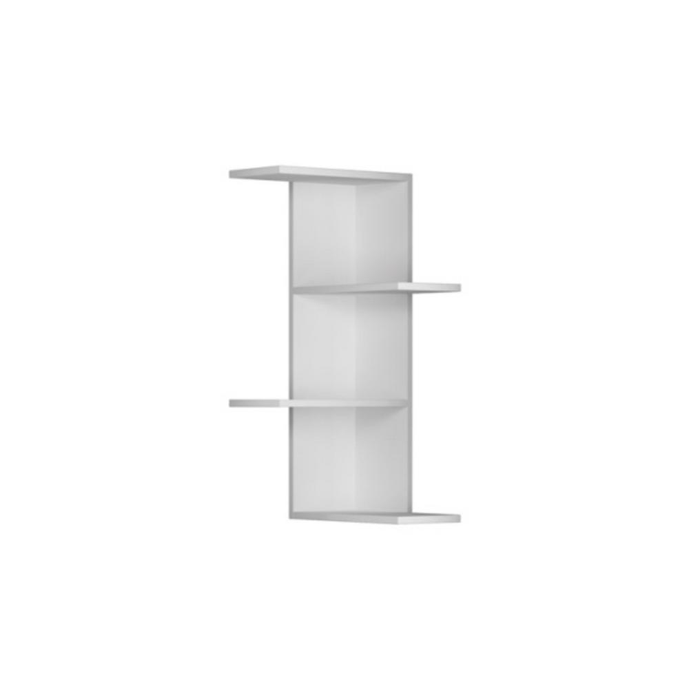 Bowcott White Mid-Century Modern Wall Shelf