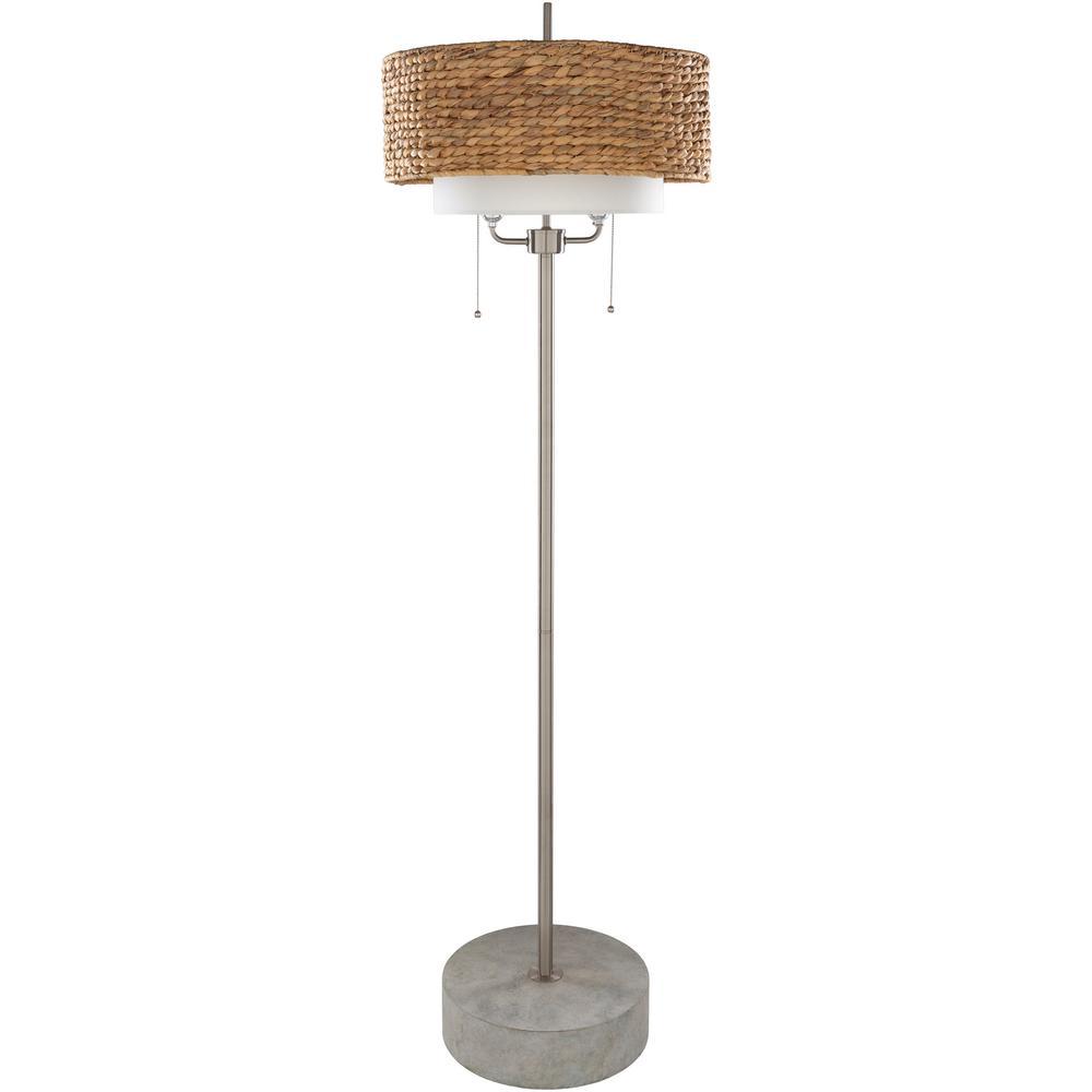 Walton 67.5 in. Nickel Indoor Floor Lamp