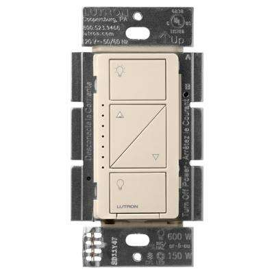 Caseta Wireless Smart Lighting Dimmer Switch for Wall and Ceiling Lights, Light Almond