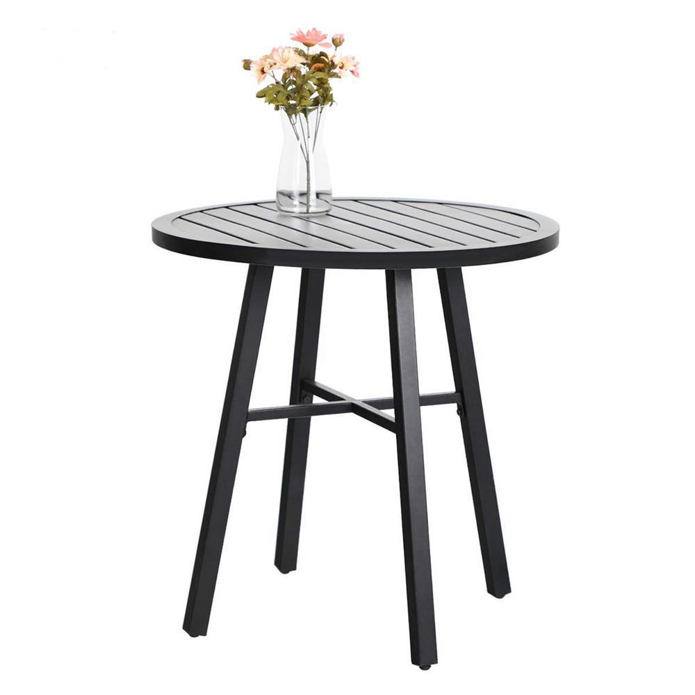 Black Metal Outdoor Bistro Coffee Table