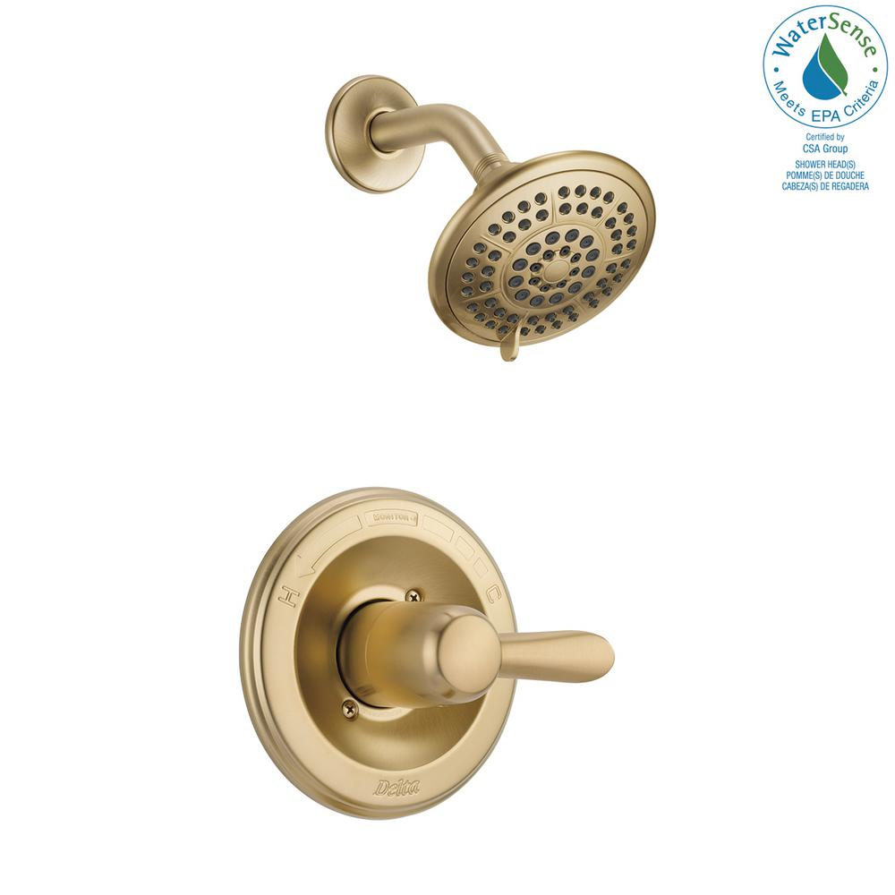 Delta Lahara 1-Handle 1-Spray Shower Faucet Trim Kit in Champagne Bronze (Valve Not Included)