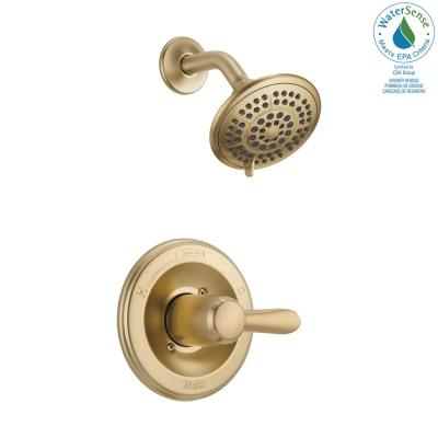 Lahara 1-Handle 1-Spray Shower Faucet Trim Kit in Champagne Bronze (Valve Not Included)