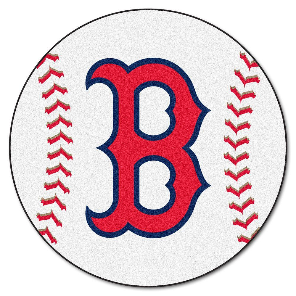 FANMATS MLB Boston Red Sox White 2 Ft. X 2 Ft. Round Area
