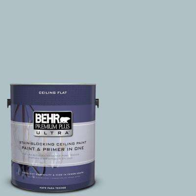 1 gal. No.UL220-7 Ceiling Tinted to Ozone Flat Interior Paint and Primer in One