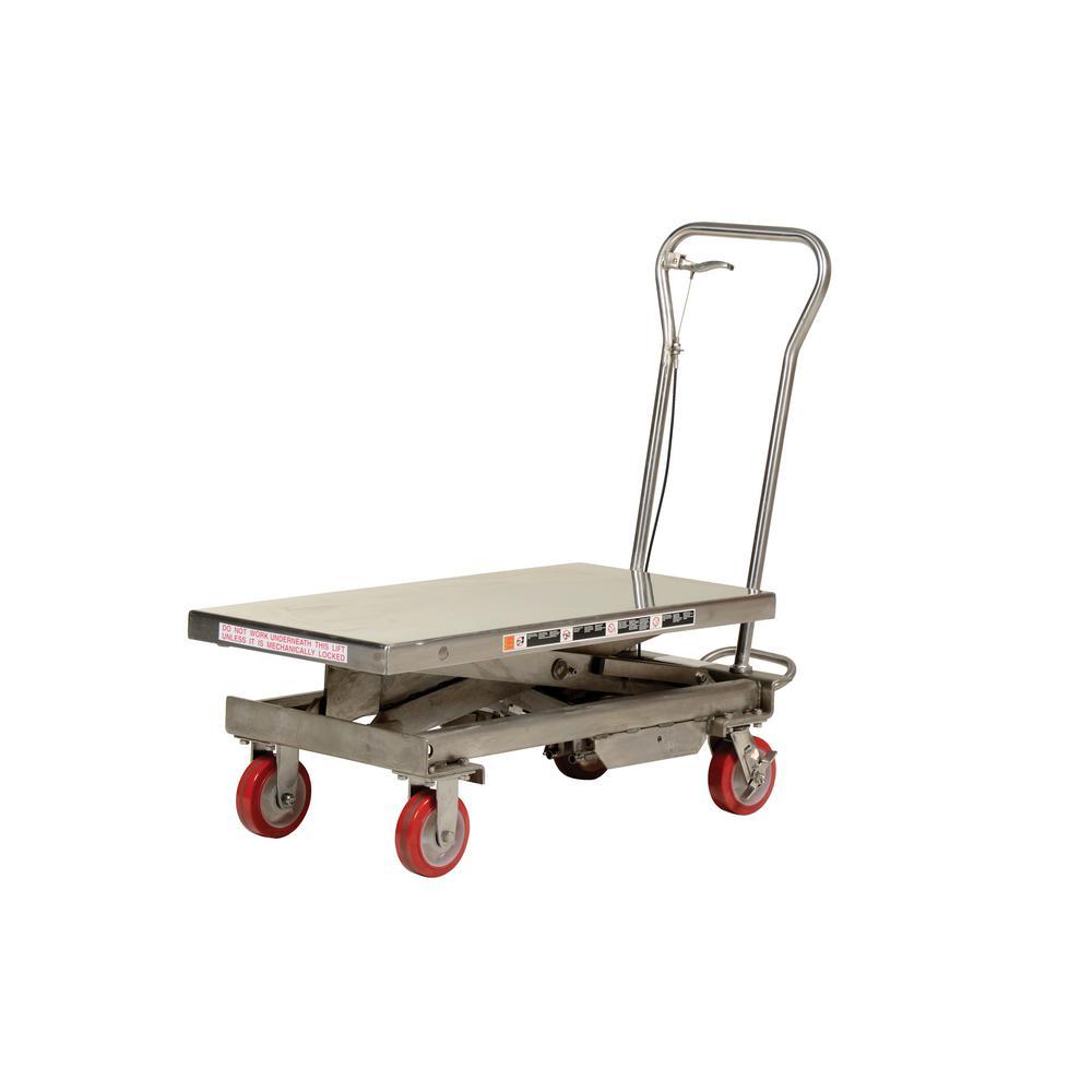 1,000 lb. Capacity Stainless Steel Scissor Cart