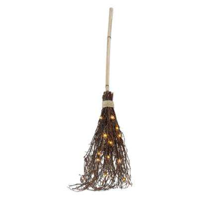 45 in. Witches Broom with LED Lights