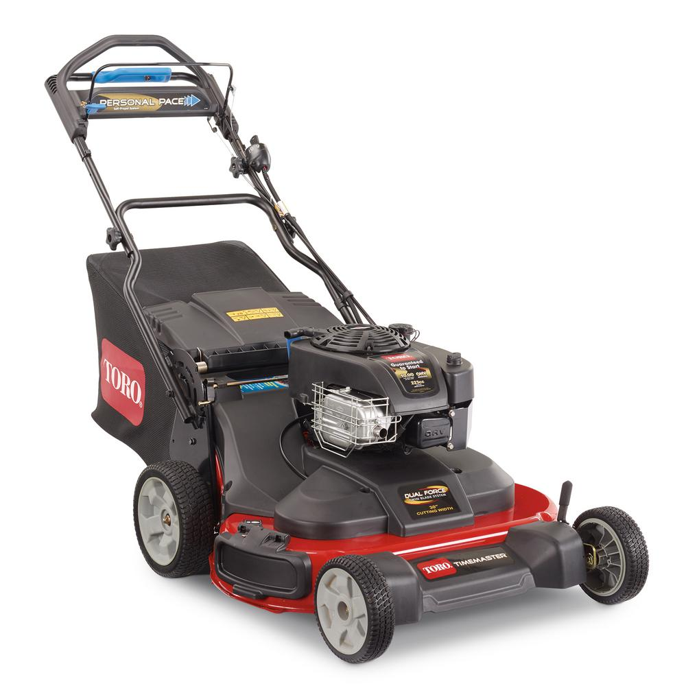 30 in. Briggs and Stratton Electric Start Walk-Behind Gas Self-Propelled Mower with Spin-Stop
