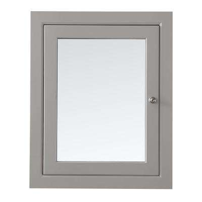 Seal Harbor 23.5 in x 29.30 in. Surface Mount Medicine Cabinet in Sharkey Grey