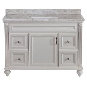 Home Decorators Collection Annakin 48 inch W Bath Vanity in Cream with Stone Effect Vanity... by Home Decorators Collection