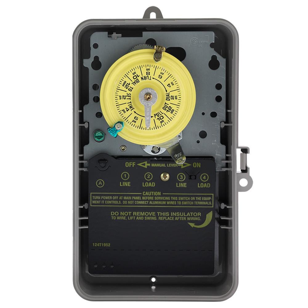 Remote Control Timers Wiring Devices Light Controls The Home Timerswitch For Radio Applications T100 Series 120 Volt 24 Hour Indoor Outdoor Mechanical Timer Switch Spst