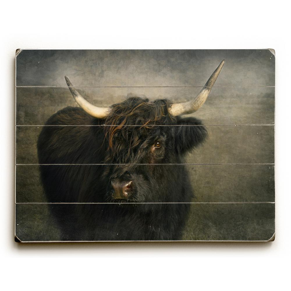 Black Cow Wall Decor : Artehouse in quot black cow by pauline fowler