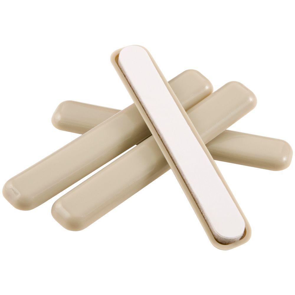 1/2 in. x 4 in. Adhesive Slider Bars (4-Pack)