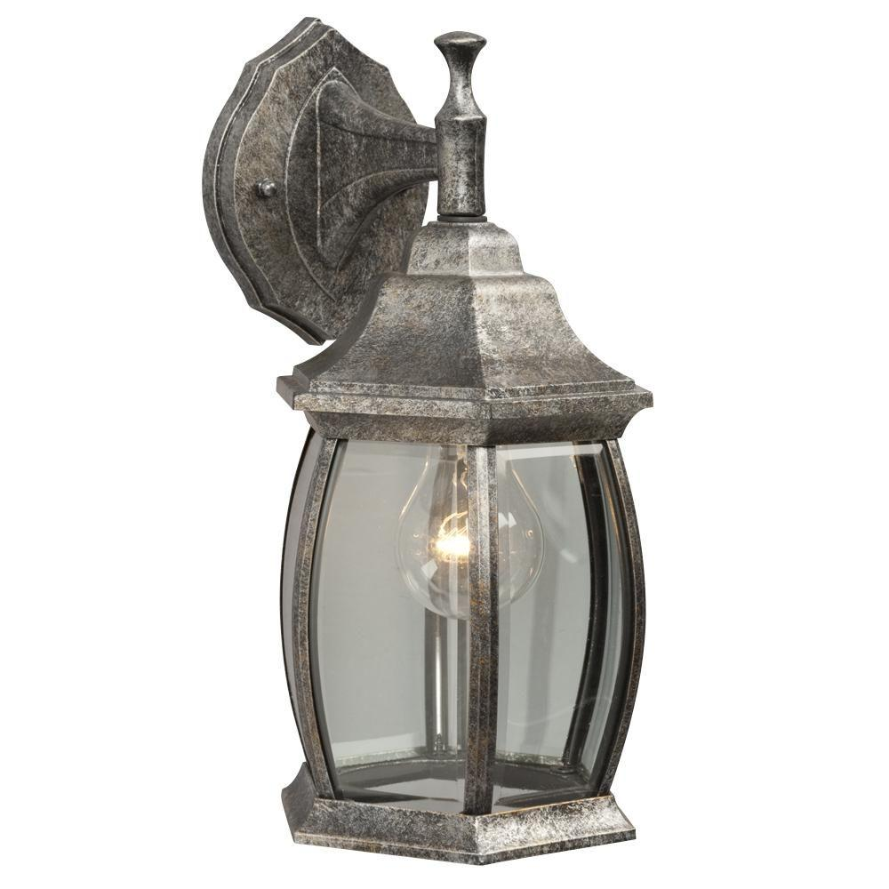 Filament Design Negron 1-Light Outdoor Antique Silver Wall Lantern