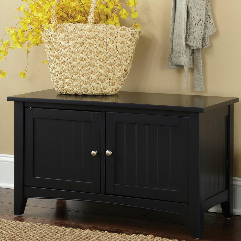 Alaterre Furniture Black Storage Bench