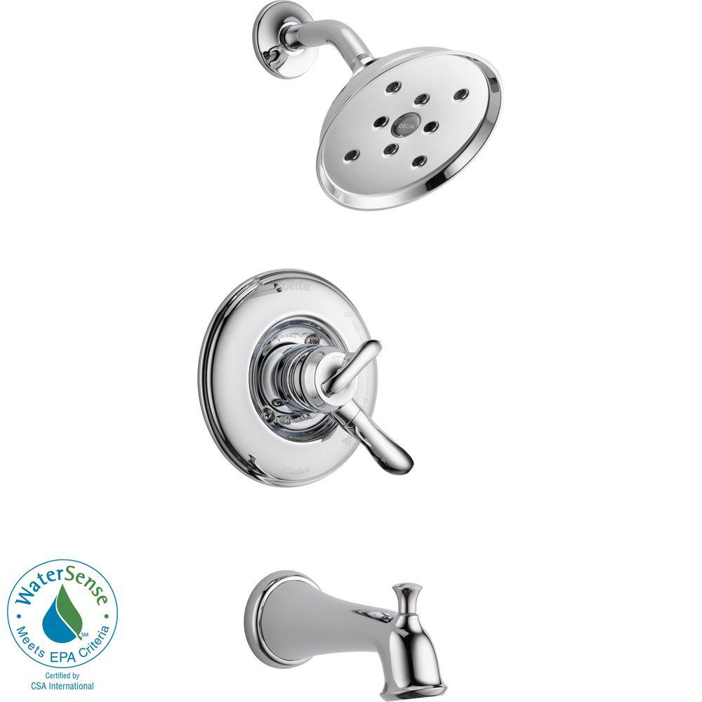 danco single handle tub shower faucet trim kit in chrome without