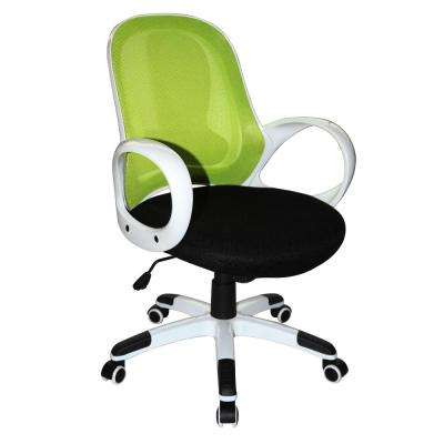 Nelson Lime Green and Black and White Office Chair