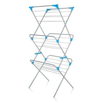 3-Tier Indoor Drying Rack in Silver