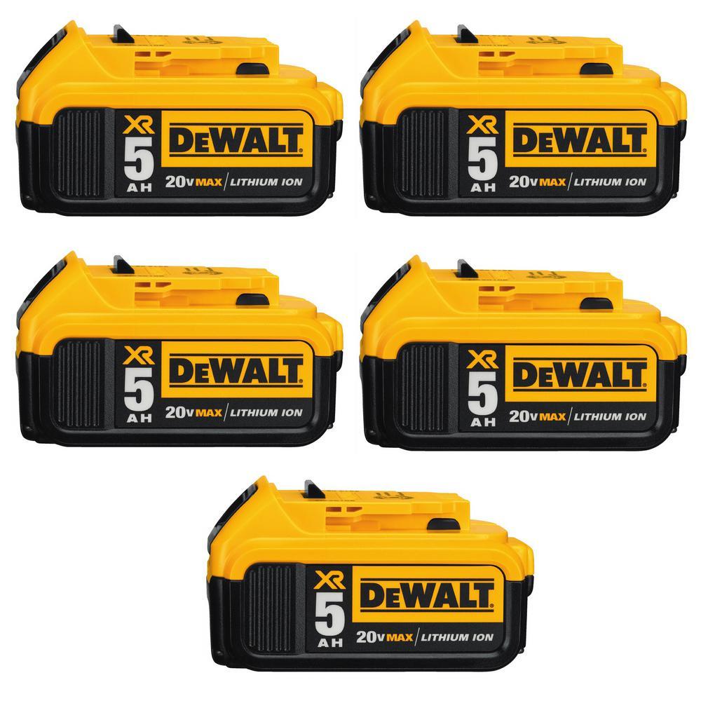 Genuine Dewalt DCB205 20 Volt Lithium Ion Battery Pack 5 Ah  NEW