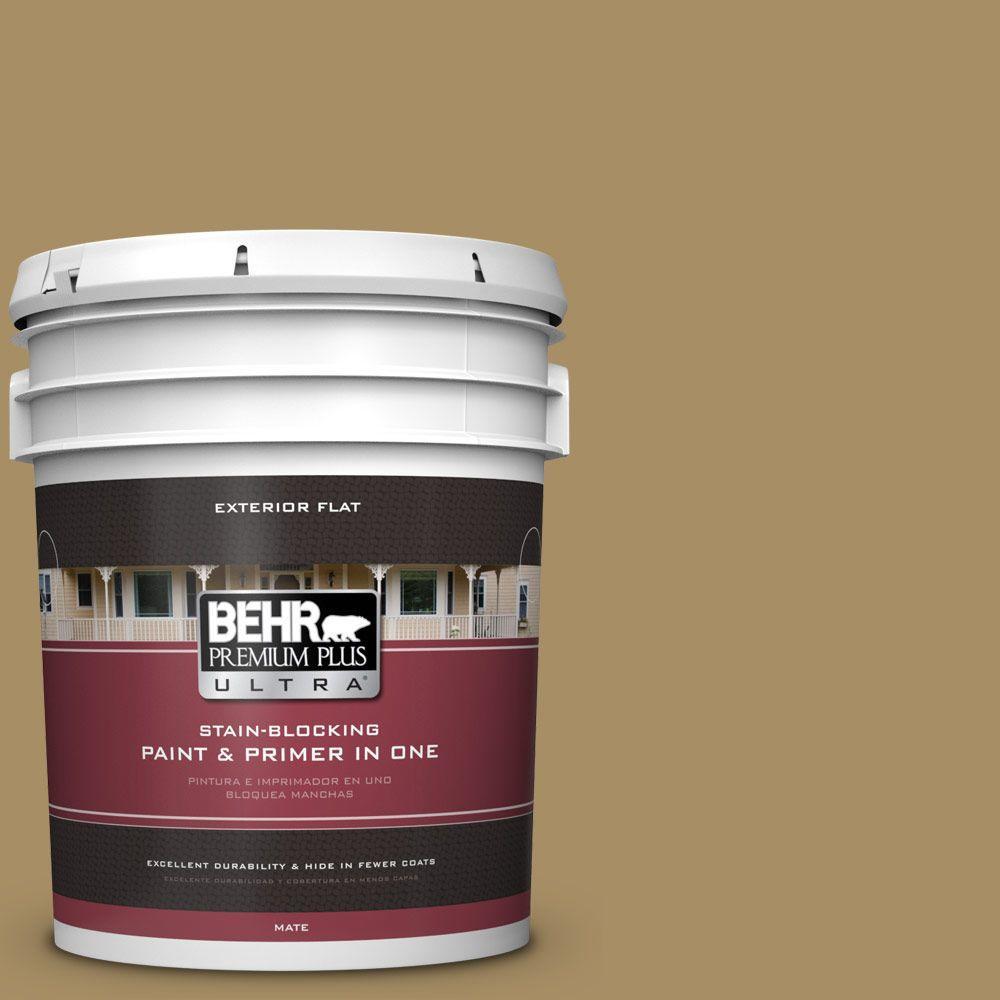BEHR Premium Plus Ultra 5-gal. #350F-6 Fossil Butte Flat Exterior Paint