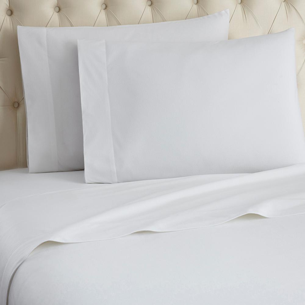Queen 4-Piece White Sheet Set