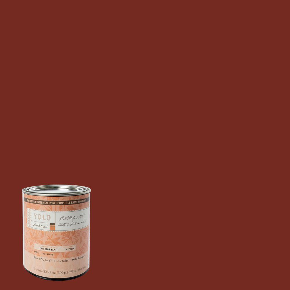 YOLO Colorhouse 1-Qt. Clay .05 Flat Interior Paint-DISCONTINUED