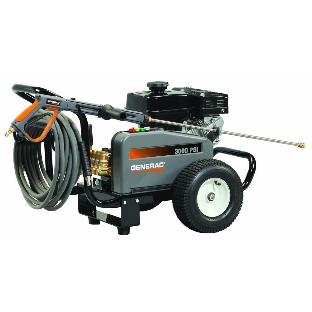 Generac 3,000 PSI 3.0 GPM Subaru Engine Triplex Pump Belt Driven Gas Powered Pressure Washer