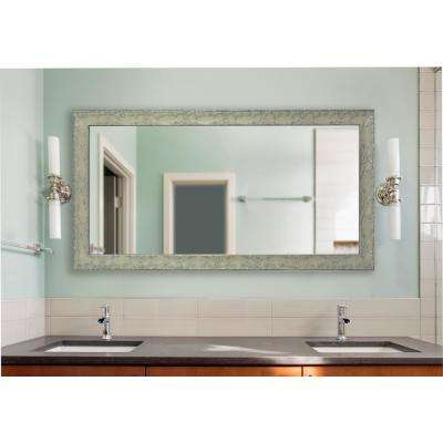 64.5 in. x 35.5 in. Maclaren Pewter  Double Vanity Mirror