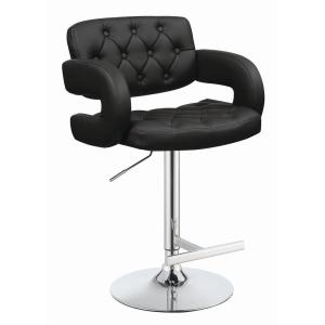 Brilliant Coaster Rec Room Adjustable Height Black Faux Leather Bar Andrewgaddart Wooden Chair Designs For Living Room Andrewgaddartcom