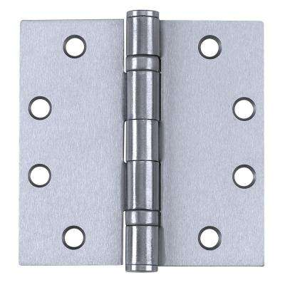 4.5 in. x 4.5 in. Satin Chrome Ball Bearing NRP Hinges (3 per Box)