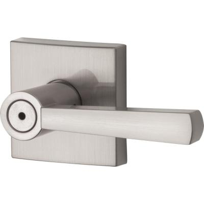 Prestige Spyglass Satin Nickel Bed/Bath Door Lever