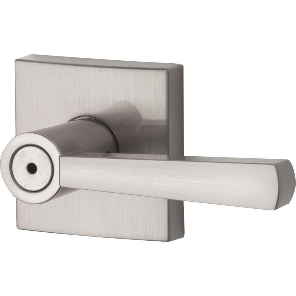 Prestige Spyglass Satin Nickel Bed/Bath Door Lever